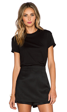 T by Alexander Wang Crewneck Tee in Black