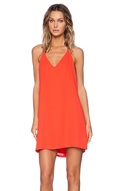Three Eighty Two Asher Halter Mini Dress in Tomato