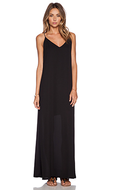 Three Eighty Two Lachlan Slip Maxi Dress in Black