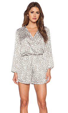 Three Eighty Two Carter Long Sleeve Romper in Mercer