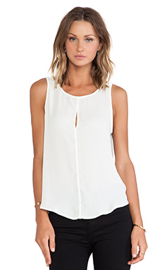 Three Eighty Two Harper Keyhole Tank in Ivory