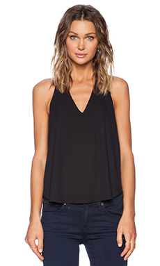 Three Eighty Two Owen V-Neck Racerback in Black