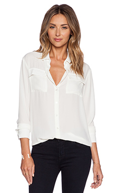Three Eighty Two Drake Oversize BF Top in Ivory