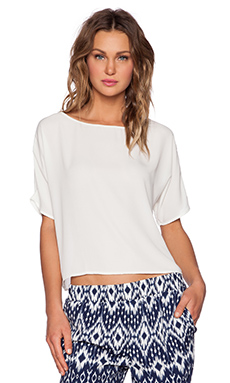Three Eighty Two Mert Pullover Top in Ivory