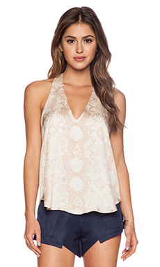 Three Eighty Two Owen V Racerback Top in Jerdon