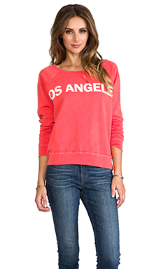 TEXTILE Elizabeth and James Los Angeles Perfect Sweatshirt in Tangelo/White