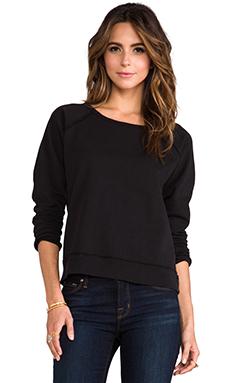 TEXTILE Elizabeth and James Cutoff Perfect Sweatshirt in Black