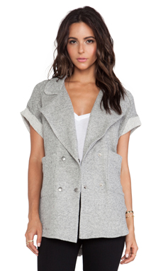 TEXTILE Elizabeth and James Sadie Jacket in Charcoal Grey
