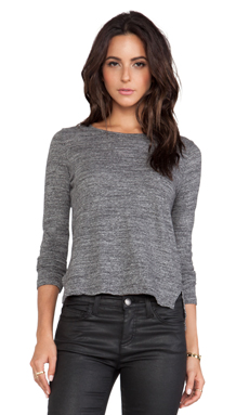 TEXTILE Elizabeth and James Auburn Long Sleeve in Charcoal Heather