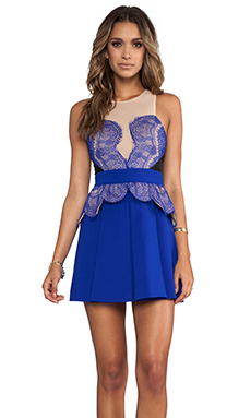Three Floor Heart You Dress in Nude/Black/Cobalt Blue