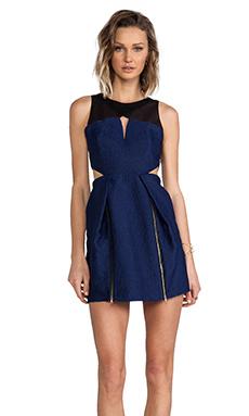 Three Floor Coveted Dress in Navy Blue/Black