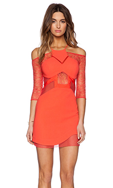 Three Floor Vixen Dress in Coral