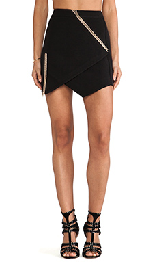 Three Floor Yea Yea Yea Skirt in Black/Rose Gold