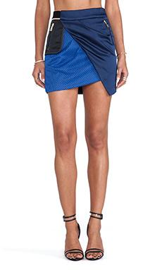 Three Floor On Track Skirt in Navy & Colbalt Blue