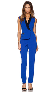 Three Floor Elite Jumpsuit in Klein Blue & Black