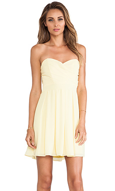 TFNC London Elida Strapless Dress in Yellow