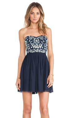 TFNC London Amelia Mini Dress in Navy