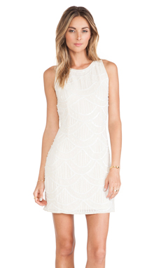 TFNC London Dahlia Mini Dress in Cream