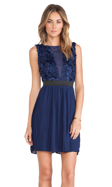 TFNC London Duena Mini Dress in navy