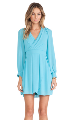TFNC London Iman Long Sleeve Dress in Turquoise