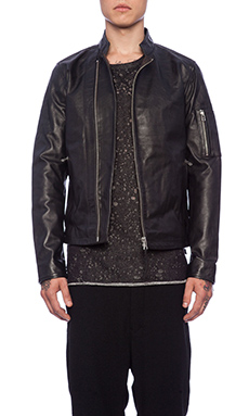 Tiger of Sweden Rikki Leather Jacket in Black