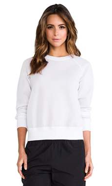 Theory 38 Aerocar Incline B Pullover in White