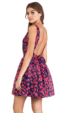 Thakoon Addition Backless Flared Skirt Dress in Navy Multi