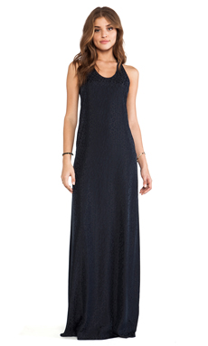 Thakoon Addition Racerback Long Dress in Midnight