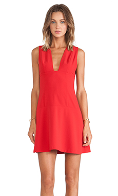 Thakoon Addition Open Front Dress in Red