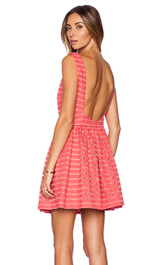 Thakoon Addition Open Back Dress in Coral