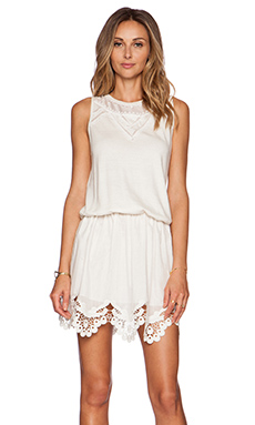 Thakoon Embroidered Volle Trim Dress in White