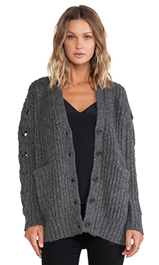 Thakoon Addition Cardigan Sweater in Heather Grey