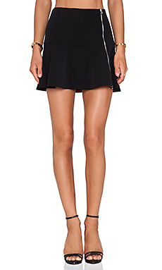 Thakoon Addition Zipper Flared Hem Skirt in Black