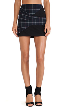 Thakoon Addition Plaid Skirt in Red & Navy