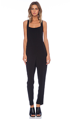 Thakoon Addition Twist Back Jumpsuit in Black