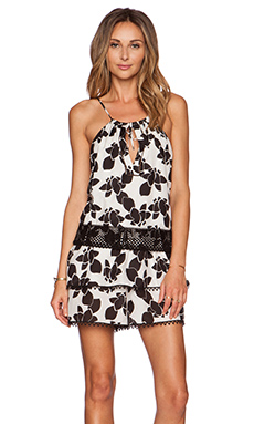 Thakoon Volle Romper in Black & White