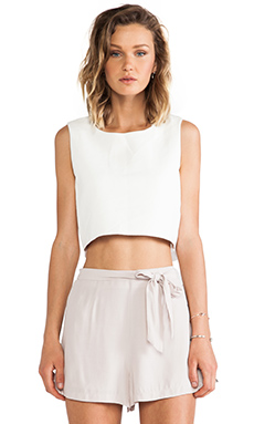 Thakoon Addition Cropped Tank in White