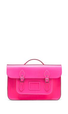 The Cambridge Satchel Company Batchel Backpack in Fluoro Pink