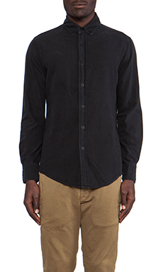 THE/END Officer L/S Button Down in Vintage Black