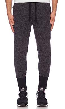 The New Standard Edition Carter Knit Jogger in Black Heather