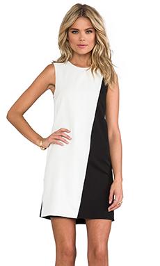 Theory Randla C Dress in Black/White