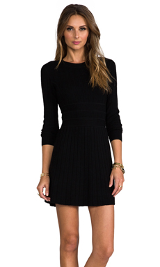 Theory Evian Stretch Chloh Dress in Black