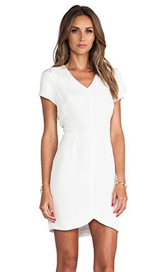 Theory Teagan Cap Sleeve Dress in Off White