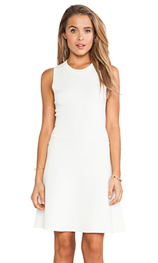 Theory Maysen Dress in Ivory Ice