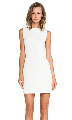 Theory Abrissa Dress in Ivory Ice