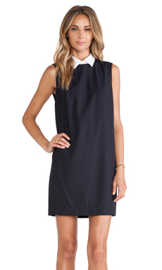 Theory Audrice Dress in Navy