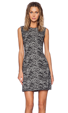 Theory Vimlin Prosecco Dress in Black & Ivory Ice