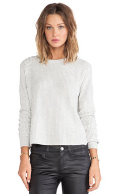 Theory Remrita Cashmere Sweater in Frost Blue/Ivory