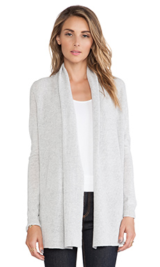 Theory Joyanne Cashmere Cardigan in Icy Grey