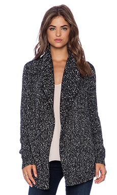 Theory Winxie G Cardigan in Charcoal & White